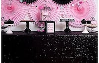 Sequin table cloth rental gold,silver and black available (high density material) Brampton, L7A 2A9