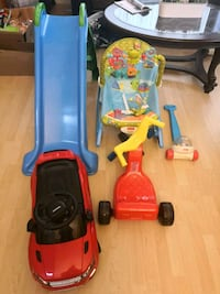 toddler's yellow and blue ride on toy Surrey, V3R 0G4