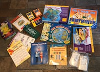 Assorted educational games and workbooks