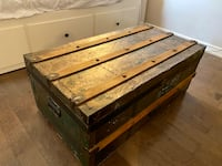 Antique Shipping Container- coffee table, storage dresser