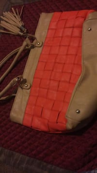 women's brown and pink leather sling bag South Bend, 46615