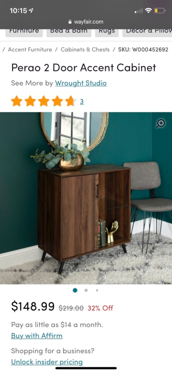 Beautiful accent cabinet