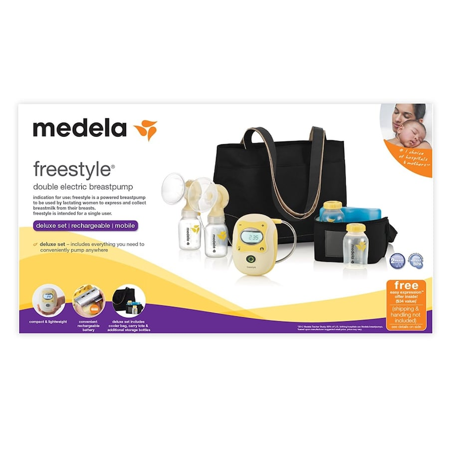 Used Medela Freestyle Double Electric Breastpump Like New For