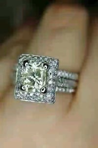 2 CARAT certified  cushion diamond engagement ring