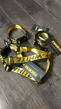 Offwhite inspired dog leash, collar, and body harness Vaughan, L4K 5Y6