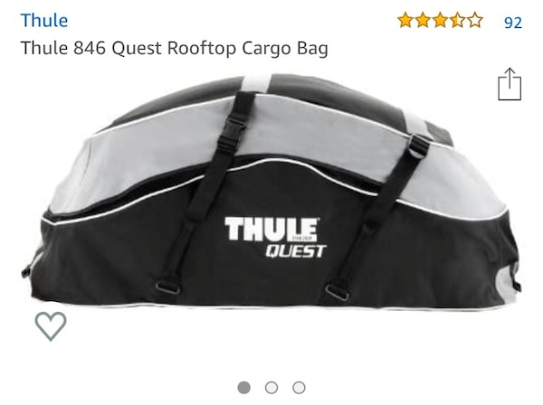 Used Thule Cargo Bag Roof For In