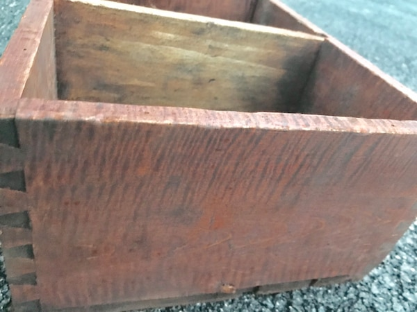 Antique Tiger maple storage container/tray