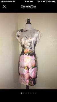 New with tags kay unger Floral Dress Sz-6 Riverside, 92505