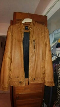 brown leather zip-up jacket Cape Coral, 33904