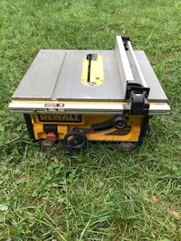 Dewalt table saw Sterling, 20164
