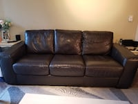 Brown leather sofa excellent  condition North Vancouver