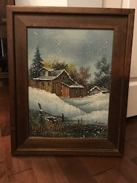 "Oil painting 31"" x 17"" (frame included) Elmwood Park, 60707"