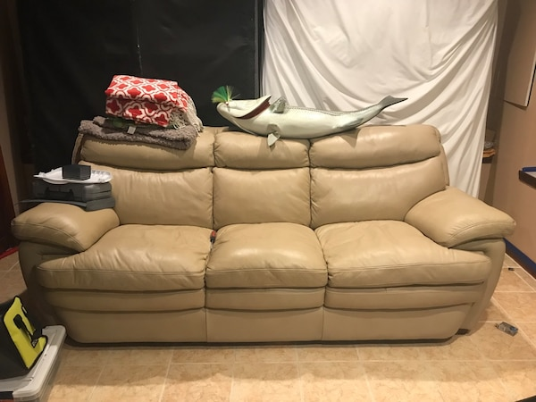 Strange Tan Faux Leather Couch Cjindustries Chair Design For Home Cjindustriesco