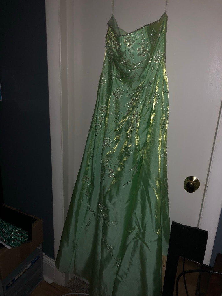 Photo Light green gown