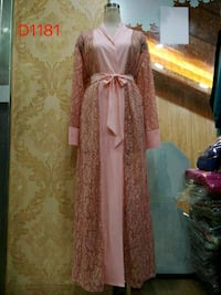 women's pink and brown floral traditional dress Toronto, M9W