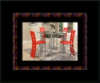 Red counter height table with 4 chairs Mount Rainier, 20712