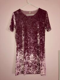 Never worn: Pink Velvet Shirt Dress Ajax, L1T 1S8