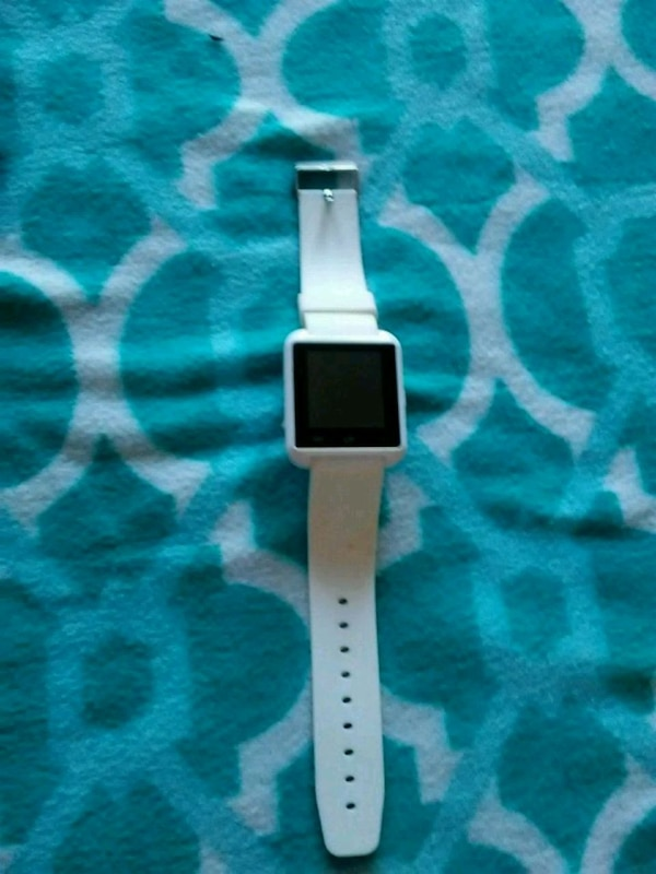 square white Smart Watch with sports band