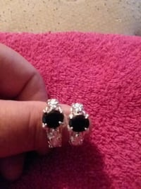 Sterling silver onyx rings.  Sizes 7 and 10.5 Odessa, 14869