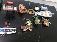 Fishing/Hunting lovers Christmas ornament lot (10 items) Toledo