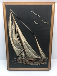 Vintage string art Sailing the blue sea  Albany, 12208