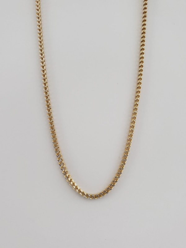 10k Yellow Gold Two-Toned Franco Chain 0