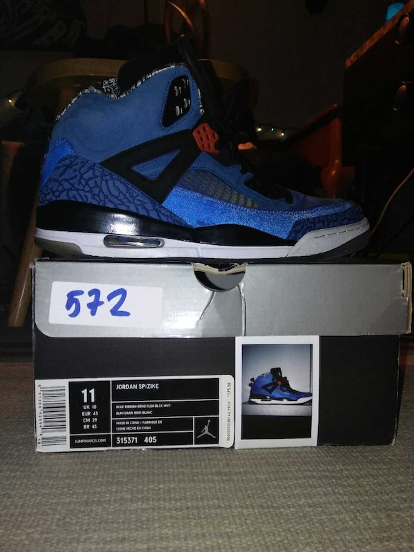 san francisco de9b0 f643e Used NIKE AIR JORDAN SPIZIKE NEW York KNICKS SIZE 11 for sale in Mamaroneck  - letgo