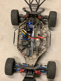 RC car basically new with tons of upgrades and lots of batteries