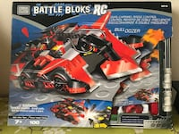MEGA BLOKS: BATTLE BLOKS RC - REMOTE CONTROL BULLDOZER (9616) 100 PIECES Year 2001  Used once and kept in excellent condition.  Very Rare and Collectible Toy.  Used only once. Had it since 2001...17 years old and in excellent condition with original box a Toronto