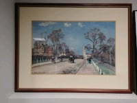 brown wooden framed painting of house Londonderry, 03053