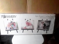 3 pcs Easel Picture Frames. New in box  Brampton