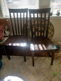 Two sturdy dining/kitchen chairs.