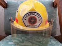 AWESOME FIREMANS HELMET & XL JUMPSUIT Hemet