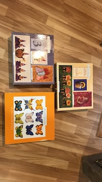 baby's butterfly and flower jigsaw puzzle boxes
