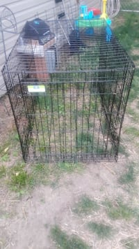 Very Large metal folding crate for a big dog