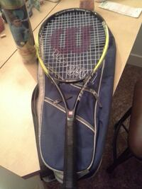 black and green Wilson tennis racket with blue cas Surrey, V4N 1N1