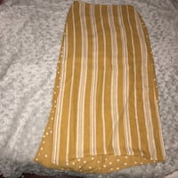 women's brown and white skirt 40 km