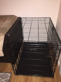 Black metal folding dog crate Salaberry-de-Valleyfield, J6S