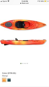 orange and black kayak with paddle Robstown, 78380