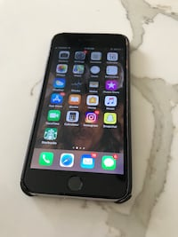 silver iPhone 6 with black case Pickering, L1V 1K7