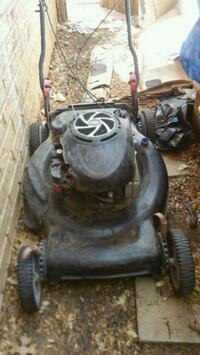 black and gray push mower Lubbock, 79424