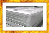 "Full 16"" double pillowtop mattress with box"