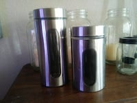 two stainless steel tumblers