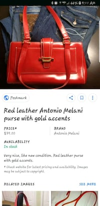 Sweet Antonio Melani Red Bag Tullahoma, 37388