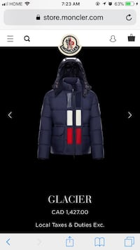 Brand new large beige unisex Moncler jacket  St Catharines, L2S 4A9
