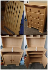 Crib, dresser, change table Calmar, T0C 0V0