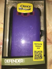 Black and purple otterbox defender samsung galaxy s 3 case