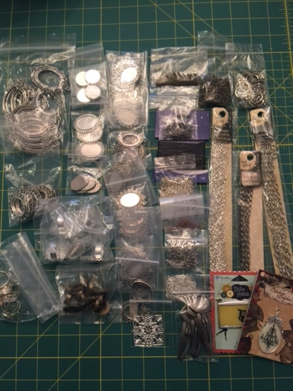 Assorted craft Jewelry/necklace/rings/hair clips