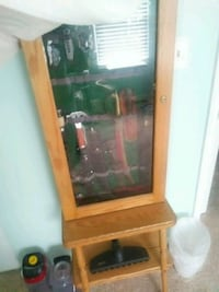 brown wooden framed glass display cabinet Westminster, 21157