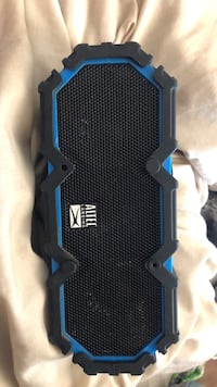 black and blue Altec Lansing portable speaker Ward, 72176
